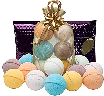 Bath Bombs Gift Set - USA 6 Luxury Lush Spa Fizzies.Gift Ideas,Women,Men,Teens.Natural Shea & Coconut Oil,Unique Natural Scents for Pampering & Relaxation.Holiday Gift Set.Top Gifts.Trust USA