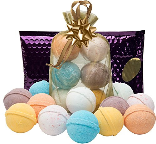 Tangerine Bath Kit - Bath Bombs Gift Set- 6 USA Lush Spa Fizzies.Gift Ideas,Women,Men,Teens.Natural Shea,Coconut Oil & Scents.Great Pampering Gifts for Relaxation.Top Gifts for Women,Men,Teens. Great Birthday Gift Set