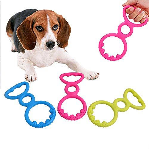 NNDA CO Rubber Pet Dog Cat Puppy Dental Teething Gums Clean Chew Resistant Bite Play Toy