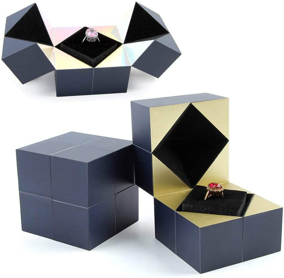 Origami Gem Gift Box Tutorial - Great as a Ring Box | Origami ... | 924x932