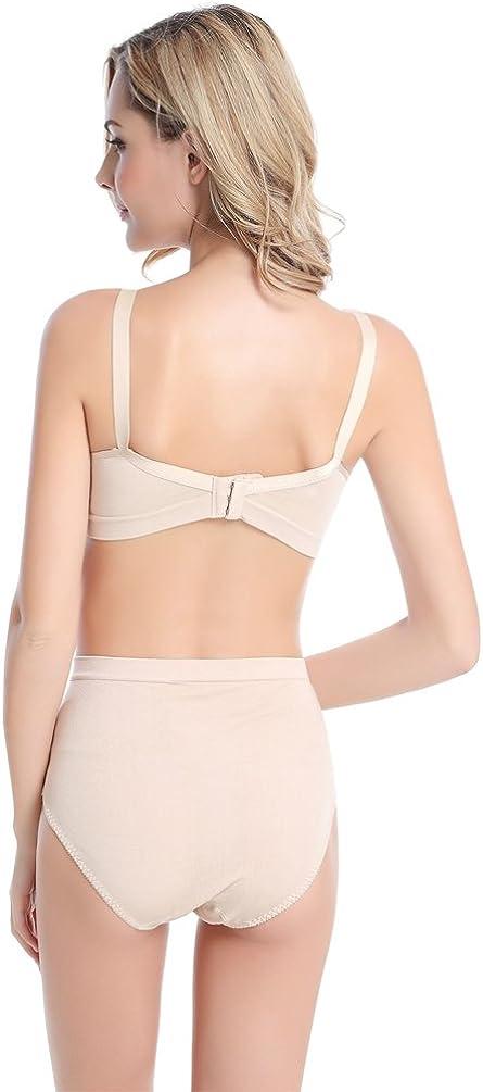 Yuanu Donna Seamless Reggiseno Allattamento Wireless maternit/à Bralette in Cotone Breastfeeding Bras