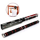 """Pull Up Bar for Doorway, Chin Up Bar with Comfort Grips – Easy Mount & Adjustable Length – Suitable for 24'-39"""" Door way – Heavy Duty Home Workout Equipment for Upper Body Exercise & Sit Ups, Push Ups"""