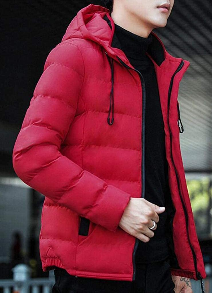 MOUTEN Mens Winter Thickened Warm Regular Fit Hooded Down Quilted Coat Jacket Outerwear