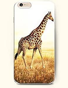 OOFIT Apple iPhone 6 Case 4.7 Inches - Giraffe Goes to Somewhere