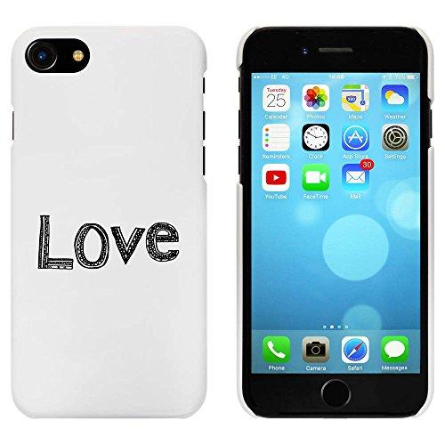 Blanc 'Amour' étui / housse pour iPhone 7 (MC00063354)