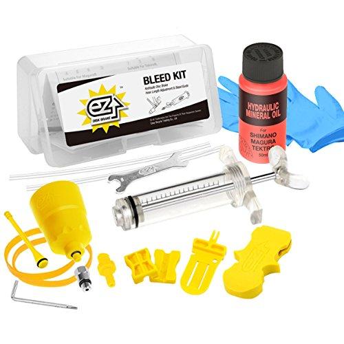 Revmega Bleeder Hydraulic Disc Brake Bleed Kit Tool for Shimano - Inc. 50ml Mineral Oil Fluid (Shimano Bleed Kit)