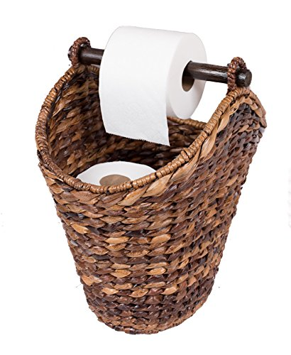 BirdRock Home Free Standing Seagrass Toilet Paper Holder and Dispenser ()