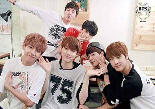 Fanstown BTS bangtan boys Poster A3 size thicken coated paper J-hope Rap monster Jin