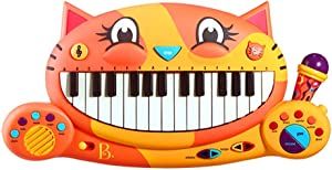 B. toys – Meowsic Toy Piano – Children'S Keyboard Cat Piano with Toy Microphone For Kids 2 years +