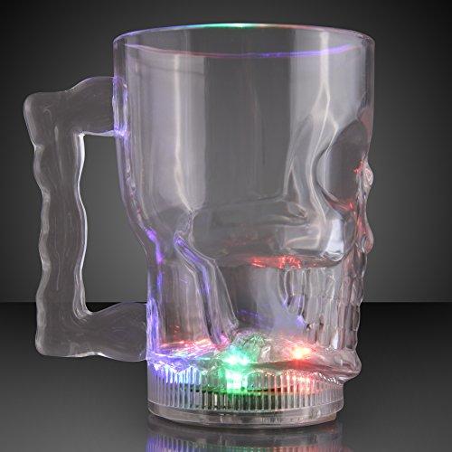 Big Skull Light Up LED Mug (Set of
