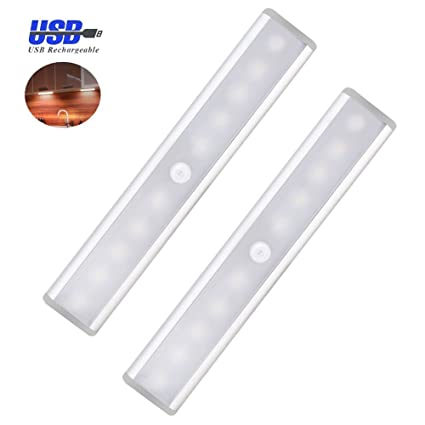 Led cupboard lighting Dimmable Image Unavailable Amazoncom Aigumi Cupboard Light Pack 10 Led Wardrobe Motion Sensor Lights