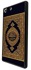826 - Quran Muslim Holly Book Design For Sony Xperia M5 Fashion Trend CASE Back COVER Plastic & Thin Metal - Black