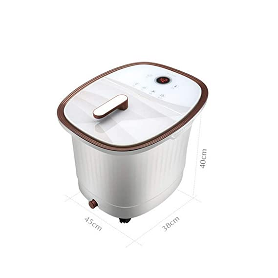 Amazon.com: QYY Footbath Footbath Automatic Massage Footbath Footbath Foot Bath Barrel Electric Heating Foot spa Health deep Barrel: Sports & Outdoors