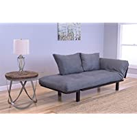 Spacely Lounger with Suede Gray Mattress