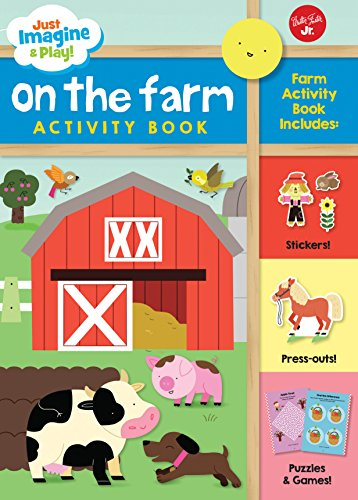 Just Imagine & Play! On the Farm: Sticker & press-out activity book (Collection Tic Tac Toe)