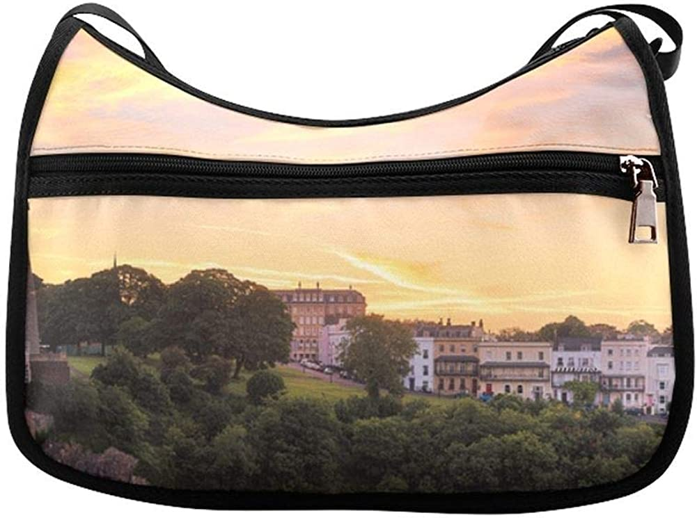 Clifton Suspension Bridge Panoramic View Messenger Bag Crossbody Bag Large Durable Shoulder School Or Business Bag Oxford Fabric For Mens Womens