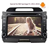 8Inch Android4.4 Quad Core 2 Din Car Stereo Capacitive Screen in Dash Car CD DVD Player 3D GPS Navigation Map Head Unit Support Bluetooth/subwoofer/3G/wifi/1080p Video Player For KIA Sportage R£¨2011-2014)