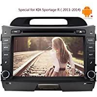 8Inch Android4.4 2 Din Car Stereo Touch Screen in Dash Car CD DVD Player GPS Navigation Head Unit Support Bluetooth/subwoofer/wifi Video Player For KIA Sportage(2011-2014)