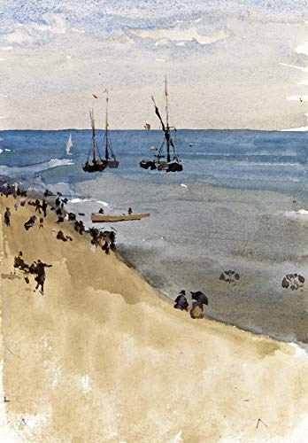 (James McNeill Whistler Green and Silver - The Bright Sea, Dieppe 30