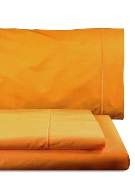 Home Royal - Juego de sábanas Compuesto por encimera, 160 x 285 cm, Bajera Ajustable, 90 x 200 cm, Funda para Almohada, 45 x 110 cm, Color Amarillo