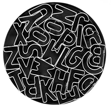 fox run 3689 alphabet cookie cutter set stainless steel 26 piece