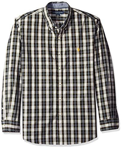 (U.S. Polo Assn. Men's Short Sleeve Classic Fit Solid Shirt, Olive Press, XL)