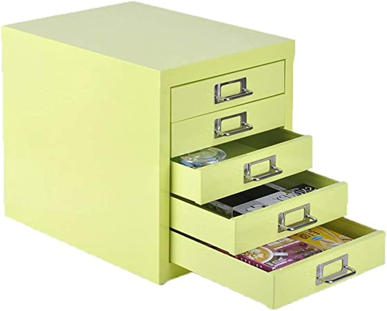 Desktop File Cabinet Drawer Office Supplies Portable and Tidy Storage Box Color : Black LKJH 5 Layers Lockable Data Cabinet