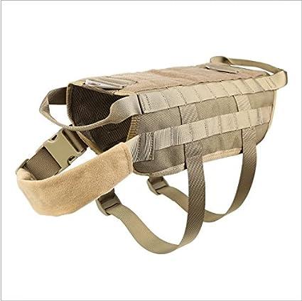 YULAN-Outdoor militar entrenamiento táctico accesorios paquete chaleco correa MOLLE perro ropa: Amazon.es: Productos para mascotas