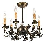 Meyda Tiffany 50095 Oak Leaf & Acorn 6 Light Chandelier - 18