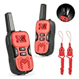 Image of Kids Walkie Talkies, Abask Durable Two Way Radio for Children 22-Channel 3 Mile Portable Handheld Gifts for Outdoor Hiking Camping Activities Built in Flash Light (2pcs)
