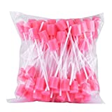 Doc.Royal Tooth Cleaning Swabs Disposable Oral Care Sponge Swabs 100pcs/set (Pink)