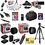 47th Street Photo Ultimate Accessory Kit for the Nikon D40, D40x, D60, D3000, D5000 - Kit Includes: 64GB High-Speed SDXC Card + Card Reader + 2 Extended Life Batteries + Travel Charger + 52MM 0.43x HD2 Wide Angle Macro Fisheye Lens + 52MM 2.2x HD2 AF Tele