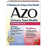 AZO Urinary Tract Health Support Pack | 18 Urinary Pain Relief Tablets Relieve UTI Pain, Burning & Urgency | 14 Cranberry Caplets with Probiotic Helps Flush To Maintain Urinary Tract Cleanliness* For Sale