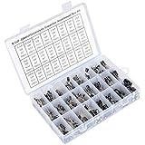 QLOUNI 24Value 500pcs Electrolytic Capacitor Assortment Box Kit 0.1UF - 1000UF 10V 16V 25V 50V Capacitor Set