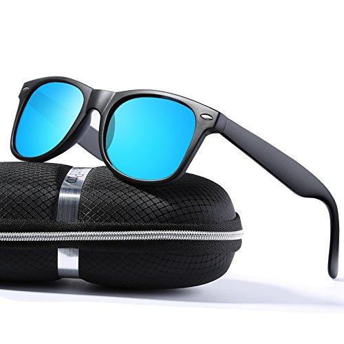 wearPro Wayfarer Sunglasses for Men Women Vintage Polarized Sun Glasses - Polarized Wayfarer