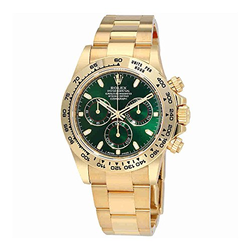 Rolex Cosmograph Daytona Green Dial 18K Yellow Gold Oyster Mens Watch 116508GRSO