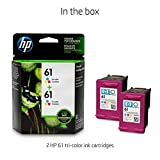 HP 61 | 2 Ink Cartridges | Tri-color | CH562WN
