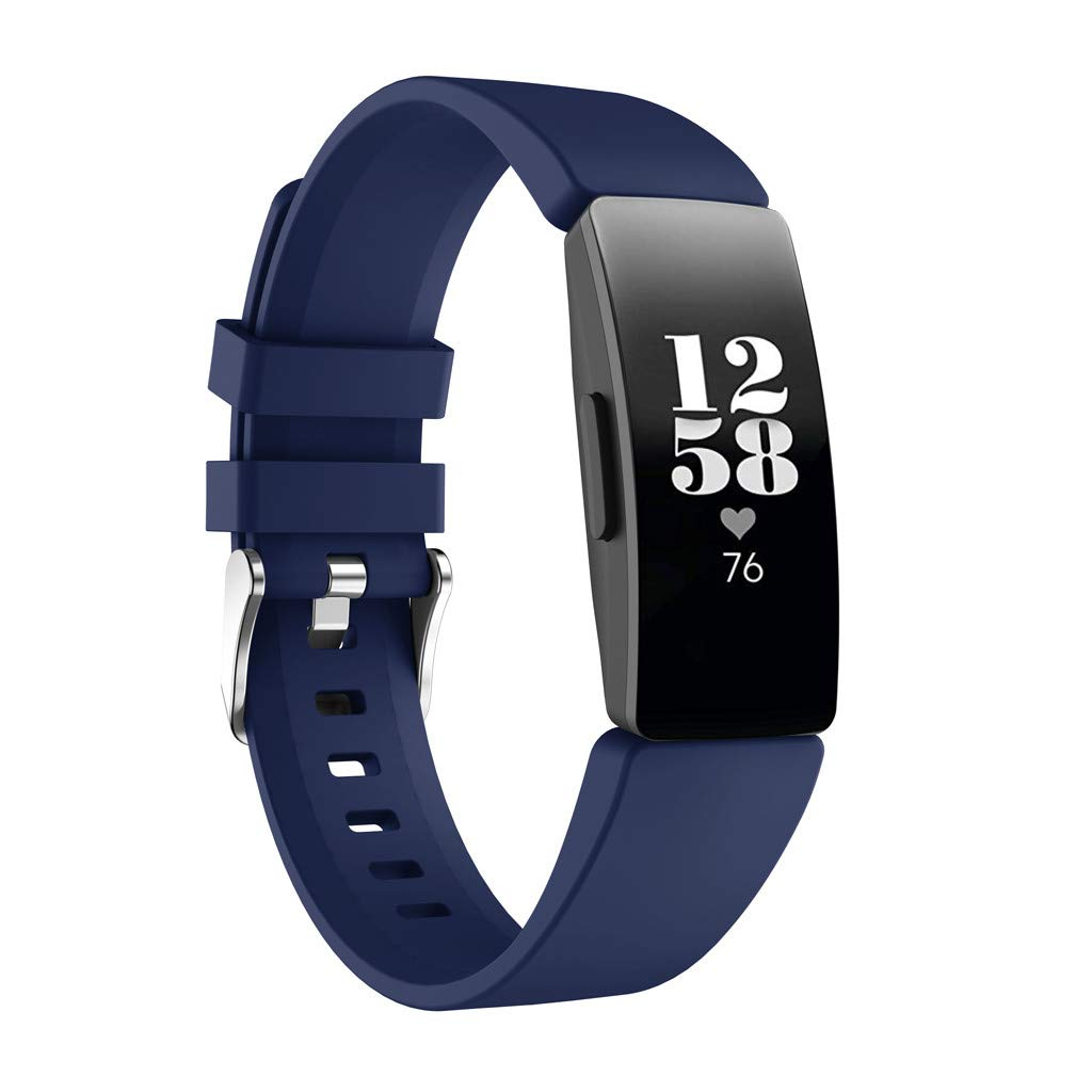 For Fitbit Inspire/Inspire HR,Shaoshao Replacement New Fashion Sports Silicone Wristband Band Strap Bracelet (Blue)