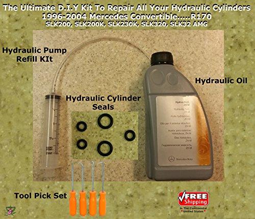 (96-04 Mercedes SLK 230 Convertible Hydraulic Cylinder Repair Kit & More...R170 )