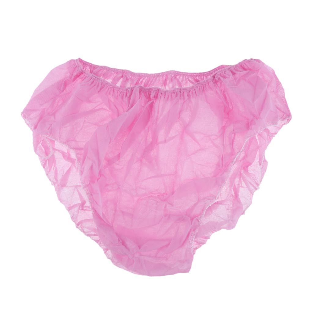 P PRETTYIA 50pcs Women Non-woven Disposable Panties Underwear Briefs Set For Spa Travel as described Red
