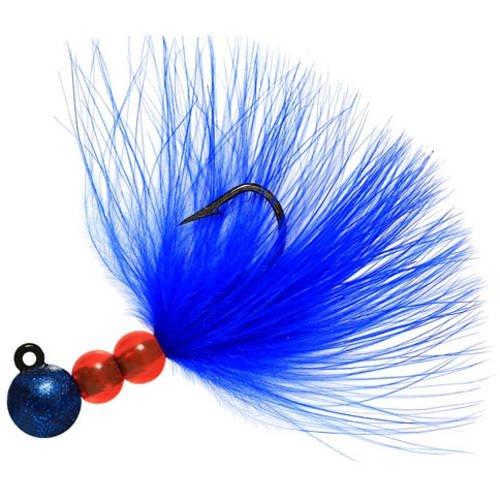 Beaumac Marabou Steelheadジグ B06XHN9L4J  ブルー #1/8