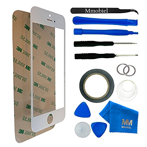 MMOBIEL Front Glass for iPhone 5 5S SE Series (White) Display Touchscreen incl 12 pcs Tool Kit from MMOBIEL