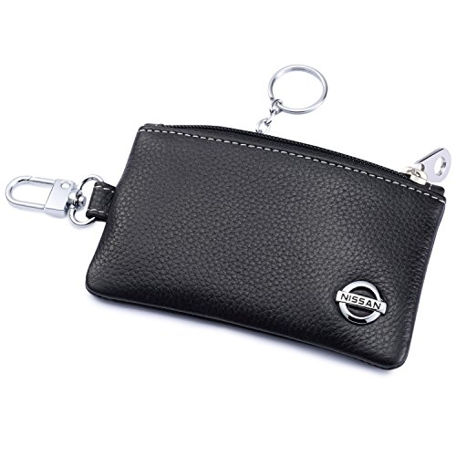 r Remote Cover Fob with 1 Metal Keychain - Genuine Leather ()