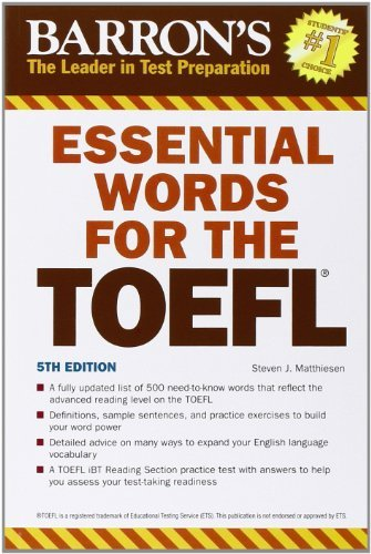 Download Essential Words for the TOEFL (Barron's Essential Words for the TOEFL) Pdf
