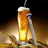Texay(TM) 2pcs Stainless Steel Whisky Beer Chiller Stick Beverage Cooler Ice Cooling Chilling Rod Chopeira Accessories