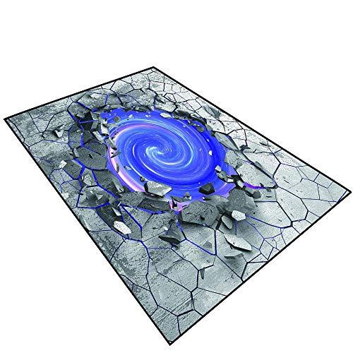 Price comparison product image Bath Mats Carpet 3D Effect of The Trap Vortex.Dark Cracked Broken Hole in Concrete Wall.074 (3) Bedroom Restaurant