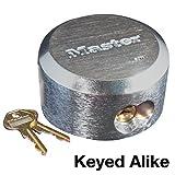 Master Lock 6271KA 2 Pack 2-7/8in. ProSeries Reinforced Hidden Shackle Rekeyable Pin Tumbler Keyed Alike Padlock, Chrome