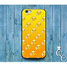 *BoutiqueHouse* iPhone 4 4s 5 5s 5c SE 6 6s plus + iPod Touch 4th 5th 6th Generation Cute Custom Yellow Phone Cover Funny Middle Finger Emoji Face Cool Case(iPhone 5c)