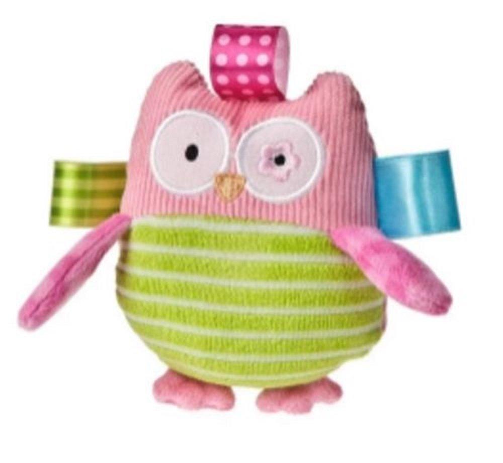 4.5インチTaggies Oodles Owl Plush Baby Rattle Toy   B07BCLT2T9