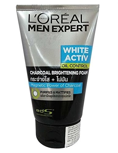 L'Oreal Men Expert White Activ Oil Control Charcoal Foam, 100ml